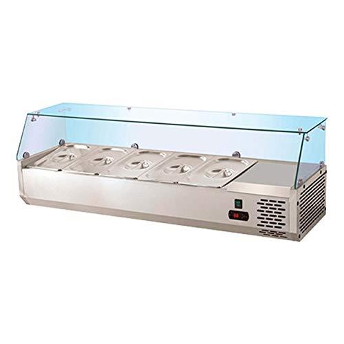 BRUNETTI Vitrina Refrigerada Profesional Con Capacidad 4 bandejas GN 1/4. Ref: TPR1200