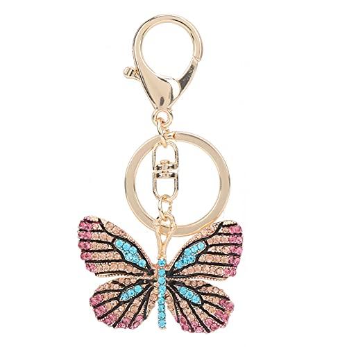 Llavero, llavero de cristal Moda elegante exquisita Durable para llavero para accesorio de bolso(Azul claro)
