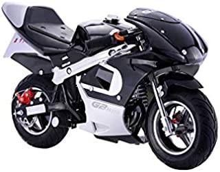 SYX MOTO 40cc 4-Stroke Gas Power Mini Kids Pocket Moto Bike Off-Roading Motorcycle Scooter,Ignition Coil,Black