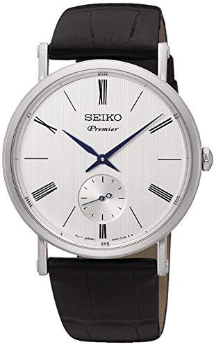 Seiko premier orologio Uomo Analogico Al quarzo con cinturino in Pelle di...