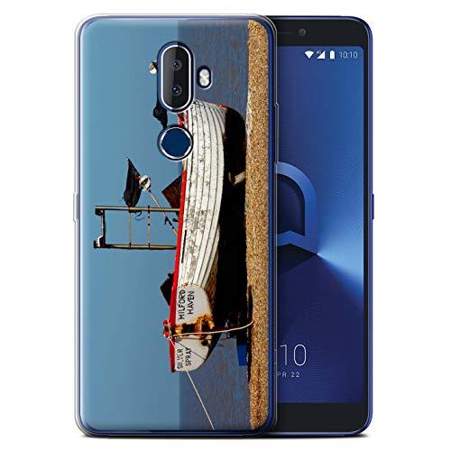 Phone Case for Alcatel 3V 2018 British Coast Rusty Boat Design Transparent Clear Ultra Soft Flexi Silicone Gel/TPU Bumper Cover -  eSwish, MR-ALC3V-GC-MP-COAST-RUSTY