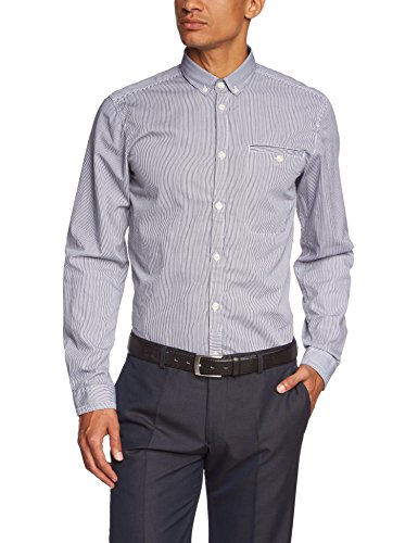 Jack & Jones Billy Shirt One Pocket L/S Chemise Business, Multicolore (Black), Large (Taille Fabricant: L) Homme