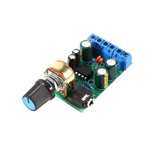 Placa de amplificador, placa de amplificador de potencia TDA2822M DC1.8-12V, placa de amplificador de potencia de CC estéreo 2.0, placa de amplificador de potencia de radio mini portátil, módulo de pl