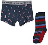 Joules Put a Sockin It Boxer de Bain, Multicolore (Navy Rugby Players NVYRGBYPLR), M Homme