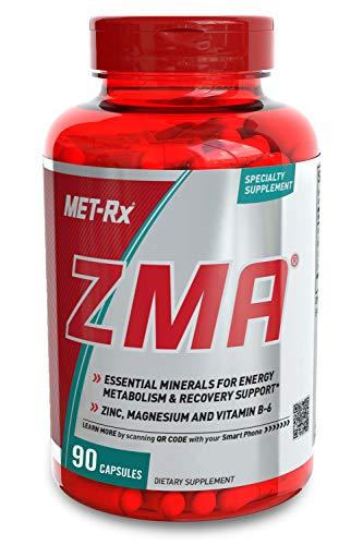 MET-Rx ZMA Dietary Supplement, ZMA Supplement Capsules, 90 Count