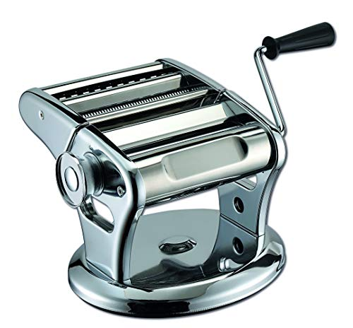 Weis Nudelmaschine 19400 Pasta Maker selbstgemachte Nudeln mechanisch für Lasagne Spaghetti Tagliatelle Maschine (Nudelmaschine, Edelstahl/Aluminium)