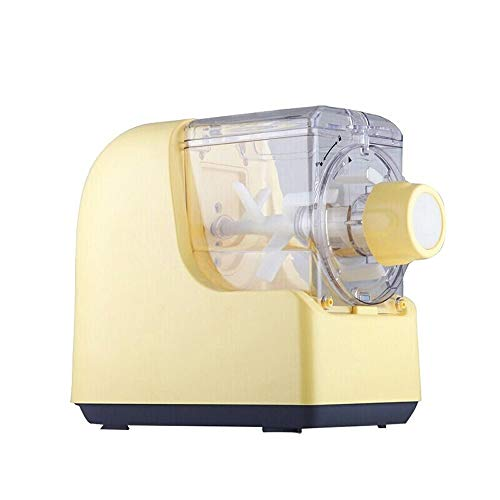 Keliour Pasta Maker Maschinenzubehör Nudel-Maschine voll automatische Nudel Press Haushalt Intelligente Elektroklein Multifunktionale Dumpling Haut (Farbe : Gelb, Größe : 33x18x25cm)