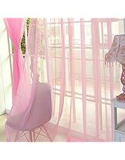NewIncorrupt Mode Eenvoudige Effen Kleur Tule Deur Gordijn Wasbaar Drape Paneel Doorschijnende Sjaal Valletjes Doorschijnend Ontwerp