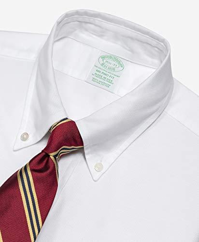 BrooksBrothers(ブルックスブラザーズ)スーピマコットンオックスフォードポロボタンダウンドレスシャツNewMilanoFit11330025ホワイト141/2-31