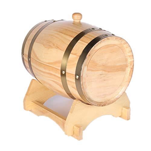 Toneles de Vino Barril de Roble Barril de Madera Cubeta de Roble de 5L, Dispensador de Barril de Vino de Madera for Almacenar Whisky de Cerveza de Tequila (Color : Natural, Size : 5L)