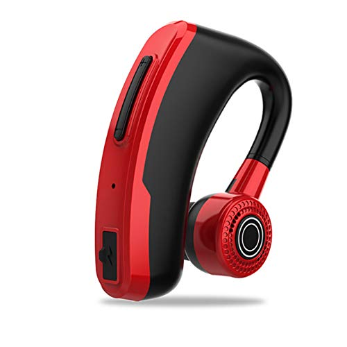 Wsaman Auriculares Bluetooth Intrauditivos,Deportivos Auriculares,con Estuche de Carga Inalámbricos Sonido Estéreo Cancelación de Ruido para Deportes, Oficina en Casa Trabajo,Rojo
