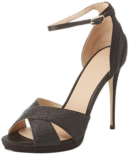 Guess Footwear Dress Sandal, Scarpe col Tacco con Plateau Donna, Nero, 39 EU