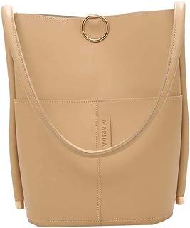 Borse a tracolla per borsa in pelle di colore puro retrò da donna di moda Crossbody Borse