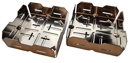 2er-Pack Kamin-Anzündkorb Pelletkorb zum Anfeuern mit Holzpellets Generation 4.0 (2 Stück)