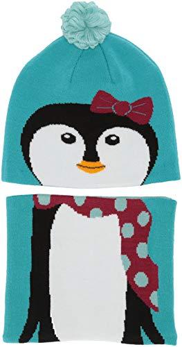 Columbia Youth Snow More Ensemble Bonnet et Tour du Cou Unisex-Baby, Geyser Penguin, FR Unique (Taille Fabricant : O/S)