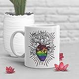 Tazza da caffè Gay Pride con motivo Gay Pride LGBT regalo per lei lui, cuore albero della vita, sessualità LGBTQIA bandiera Gay Rainbow Flag LGBTQ