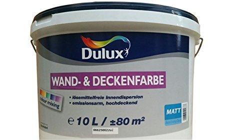 Dulux Wand & Deckenfarbe Weiß Matt 10 Liter