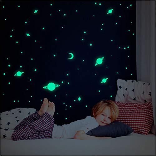 Ambiance-Live Wandtattoo Univers–150Sterne und Planeten Glow