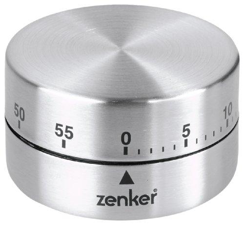 Fackelmann 41936 Minuteur Mécanique Inox Magnétique