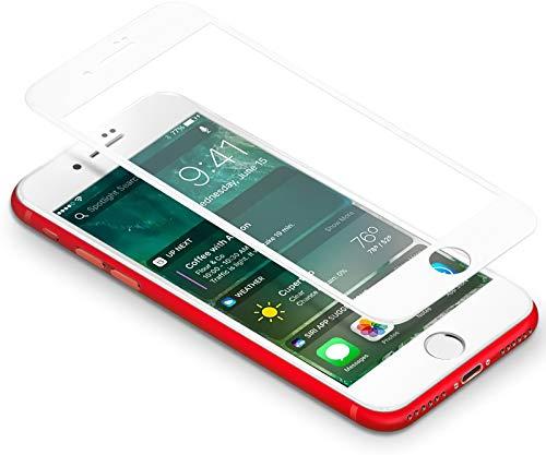 Coolreall Vetro Temperato Compatibile per iPhone 7/8, [3D Full Coverage] Pellicola Compatibile per iPhone 7/ iPhone 8 (4,7 Pollici) [Ultra Resistente Durezza 9H, 3D Touch Compatible] (Bianco)