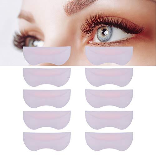 Cadeau de fête des mères Coussin de cils en silicone, Coussin de cils permanent, 5 paires de silicone Perming Lifting Lift 3D Eyelash Curler Shield Pad Patch Patch Makeup Tool