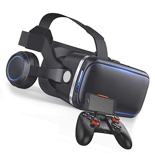 JYMYGS Gafas VR, Gafas de Realidad Virtual, VR Glasses Visión Panorámico 360 Grado Película 3D Juego Immersivo para Móviles 4.0-6.0 Pulgada para iPh X/7/6s 6/Plus, Galaxy s8/ s7, etc. N009JL