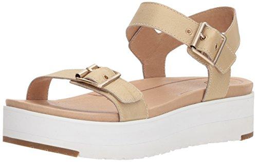 UGG dames Angie metallic goud lederen sandaal - 6.5 UK