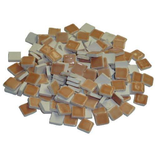 Mosaix 229302810x 10x 3mm 70g 150-tlg. Keramik glasiert Mosaik Fliesen, orange Pastell