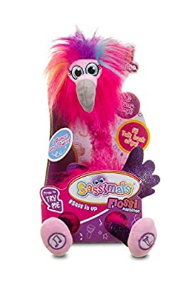 Sassimals Flossi Flamingo | Hilarious Dancing Toy | Talks Back | Wiggles | Dances Like Crazy! | Play YOUR Words in a Funny Voice | 2 Modes | Aged 0+ by Golden Bear Products Ltd