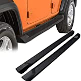 KARPAL Pair Side Step Running Boards Nerf Bar Compatible with 2018 2019 2020 2021 Jeep Wrangler JL Unlimited 4 Door ( Excl JK Model ) Replacement Part # 82215164