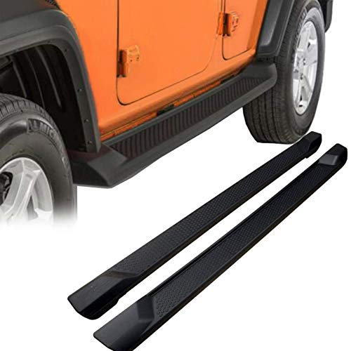 KARPAL Pair Side Step Running Boards Nerf Bar Compatible with 2018 2019 2020 Jeep Wrangler JL Unlimited 4 Door (Excl JK Model)