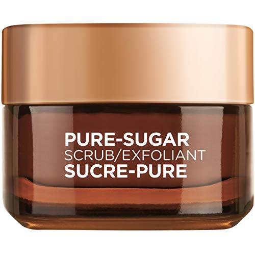 L'Oreal Paris Pure-sugar Soothing & Nourishing Face & Lip Scrub for Dry...