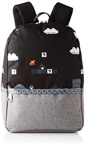 Difuzed Nintendo Super Mario 8bit Placed Print Backpack  Mochila Bros para Hombre  Black