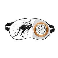オーストラリアのコアラ・カンガルーのシルエットのイラスト 睡眠時計旅行昼休み眼帯
