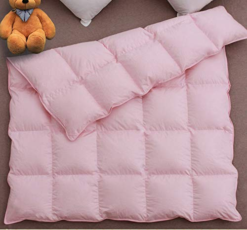 C&L Baby Summer Lightweight Crib Blanket/Comforter,100% Natural White Goose Down Filled for Crib Bedding,Suit for Newborn and Toddlers,Soft and No Sound (Pink, 41x48in)