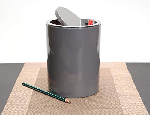 KW 'Clappe 1.7Ltr Counter Top Waste Bin/Mini Swing Bin/Compost Bin (Grey)