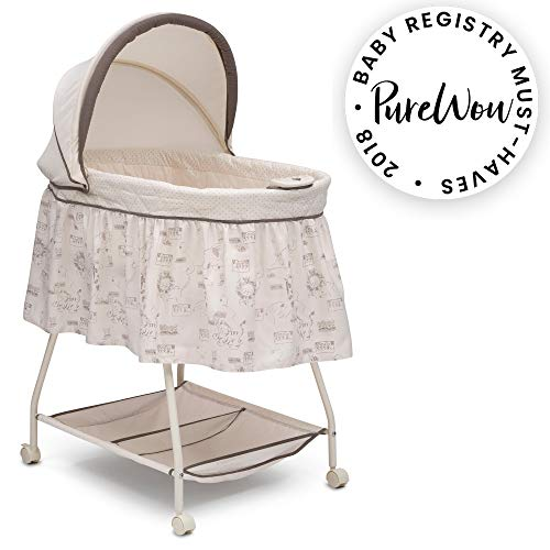 Read About Delta Children Deluxe Sweet Beginnings Bassinet, Playtime Jungle