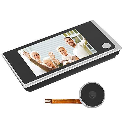 3.5' Videoportero, Sistema de Timbre inalámbrico con cámara de Seguridad LCD Digital/Intercomunicador de Video de Doble vía/Visor de Mirilla de 120 Grados para Villa/Casa/Oficina