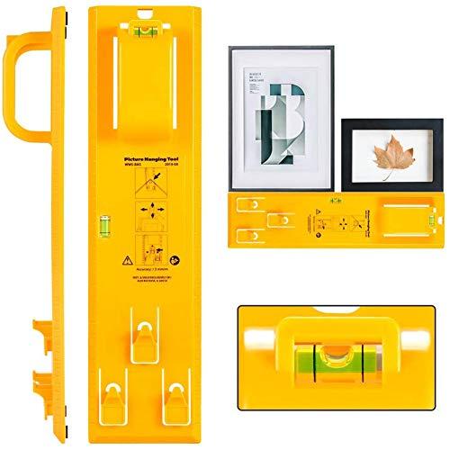 Picture Hängendes Werkzeug, Bilder-Aufhängewerkzeug Bilderrahmen Lineal mit Wasserwaage, Bilderrahmen-Lineal für Markierungsposition für Fotos, Bildern, Uhren, Spiegeln und Leinwänden