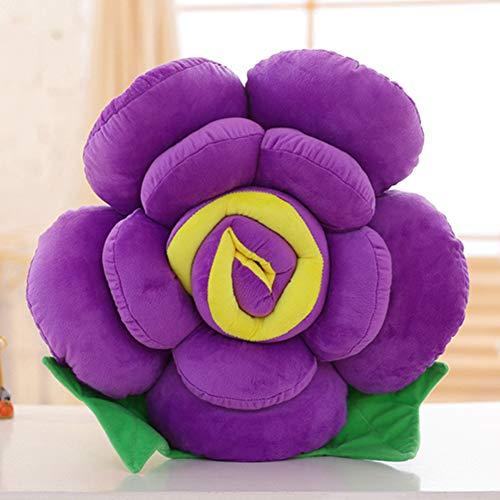 Dongbin Blumen-Form 4 Größe Kurze Plüsch-Sitzkissen PP Cotton Kern Spielzeug Sofa-Kissen,B