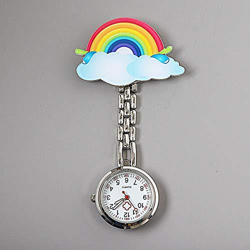 LLRR Reloj de Silicona Unisex para médicos,Nightnometer Impermeable Lindo Simple del Clip, Pecho marrón del Examen del Estudiante,Reloj Médico por