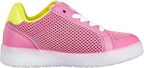 Geox Mädchen J KOMMODOR Girl A Sneaker, Pink (Fuchsia/Lt Yellow), 31 EU