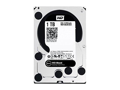 """WD 1TB Black Performance Internal Hard Drive 7200 RPM SATA III 3.5"""" HDD"""