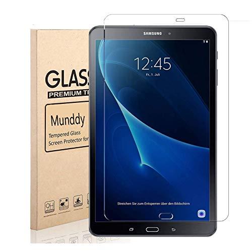 """munddy- Protectores Cristal Templado para Samsung Galaxy Tab A 2016 10.1"""" T580 T585, DUREZA 9H Protector de Pantalla Vidrio Templado"""