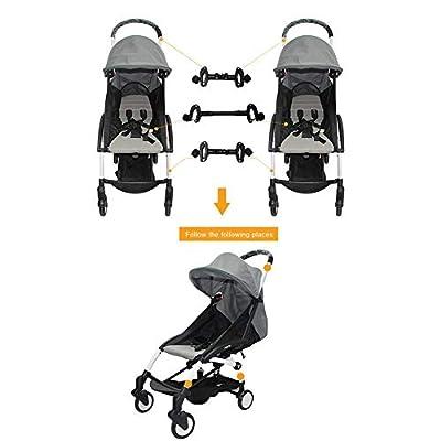 Kinderwagen Adapter, Kinderwagen Verbinder Für Zwillinge Verstellbarer, Einfach Zu Installierender Kinderwagenverbinder