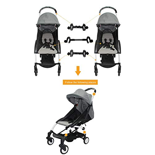 Juman634 Conectores de Cochecito de bebé para Gemelos Ajustable Fácil Instalación Conector de Cochecito Compatible con 98 de cochecitos