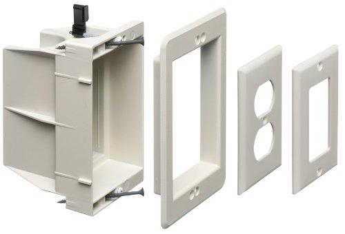 Arlington Industries DVFR1W-1 02423001690 Wall Plates, 1 Gang, White