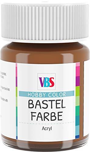 VBS Bastelfarbe Acrylfarbe Hobby Color 15ml Rotbraun