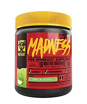 MUTANT Madness - Redefines The Pre-Workout Powder Experience and Takes it to a Whole New Extreme Level, Engineered Exclusively for High-Intensity Workouts from Mutant