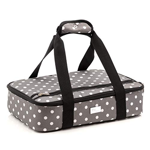 Pursetti Casserole Carrier - Single Layer Insulated Bags for Food Transport of Lasagna, Salad & Dessert for Potluck, Family and Holiday Parties (Pop Lights)
